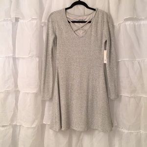 Adorable sweater dress grey
